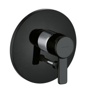 Baterie wannowo-prysznicowe podtynkowe czarne