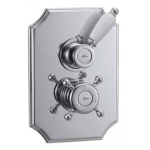 Baterie wannowo-prysznicowe podtynkowe retro