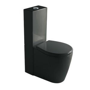 Toalety WC stojące czarne