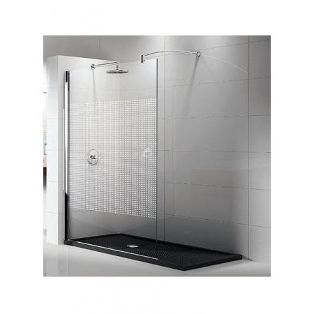 Novellini Lunes Ścianka prysznica stała 110 cm, profil srebrny LUNESH110-1B