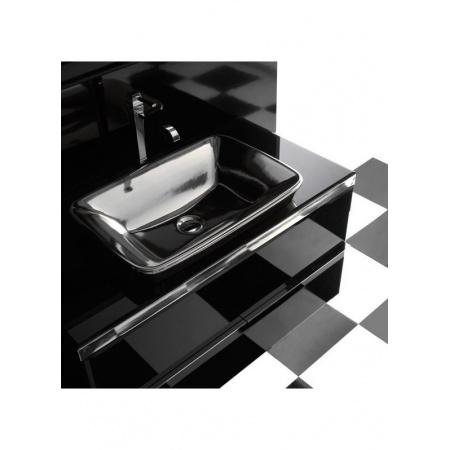 Globo Relais Szafka wisząca pod umywalkę 100x53x60 cm, biała/chrom MS060BC