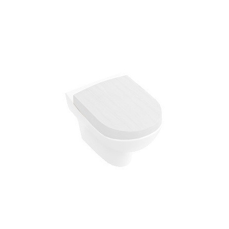 Villeroy & Boch My Nature Miska WC lejowa 37x60cm model wiszący z deską wolnoopadającą, biały 561010R1+9M33S1R1
