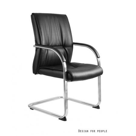 Unique Brando Skid Fotel biurowy, czarny C041
