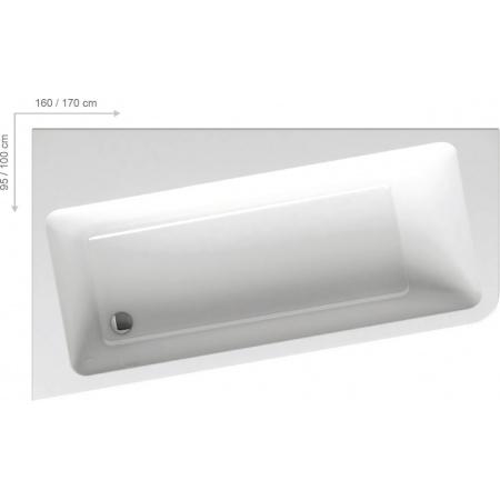 Ravak 10 Wanna asymetryczna 160x95 cm lewa, biała C831000000