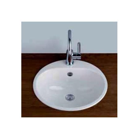 Alape EW 3+1LS25-LI Umywalka wpuszczana w blat 47,5 cm emaliowana biała 2005090000