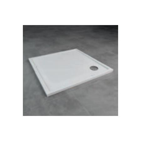 Ronal Marblemate brodzik konglomeratowy 90 x 90 cm biały SWMQ09004