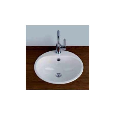 Alape EW 3 Umywalka wpuszczana w blat 47,5 cm emaliowana biała 2005006000
