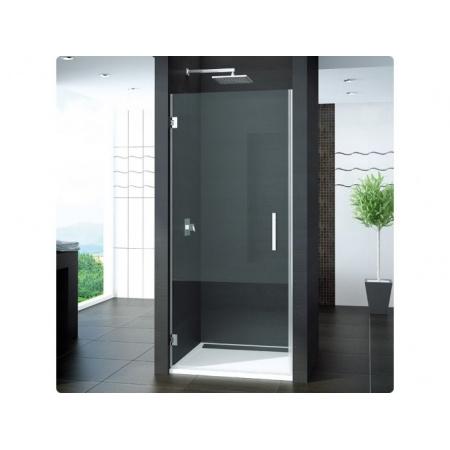 Ronal Pur Drzwi prysznicowe wahadłowe, jednoczęściowe - na wymiar Chrom Pas satynowy poziomy (PUR1TSM11051)