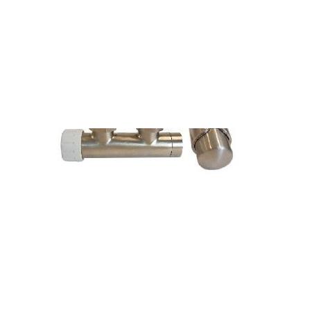 Schlosser Zestaw - zawór termostatyczny z głowicą termostatyczną Duo-plex 3/4 x M22x1,5 prosty stal+Nyple (602100037)