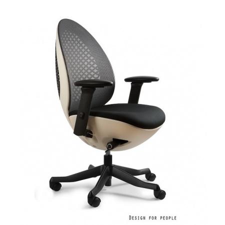 Unique Ovo Fotel biurowy, biały/czarny W-667W