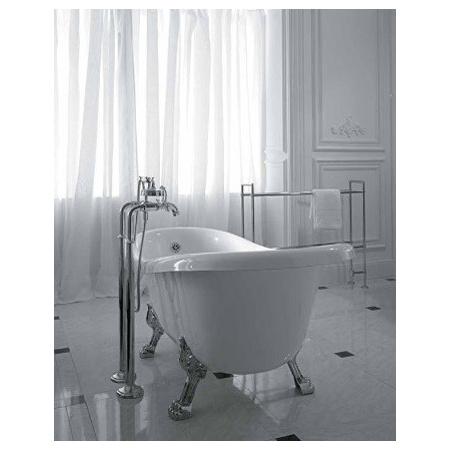 Globo Paestum Wanna wolnostojąca 170x80x73 cm, biała, nogi złote PA102