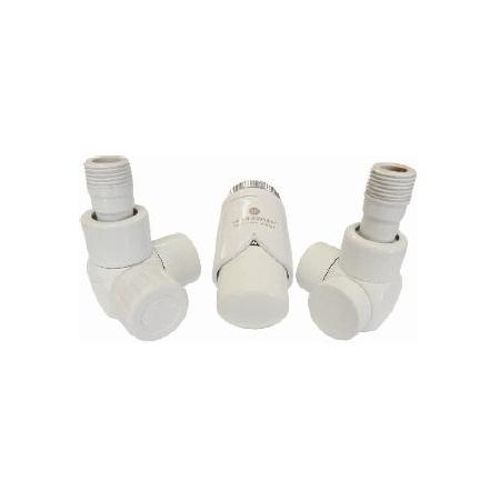 Schlosser Exclusive zestaw łazienkowy GZ ½ x złączka 15x1 Cu osiowo prawy biały 601700102