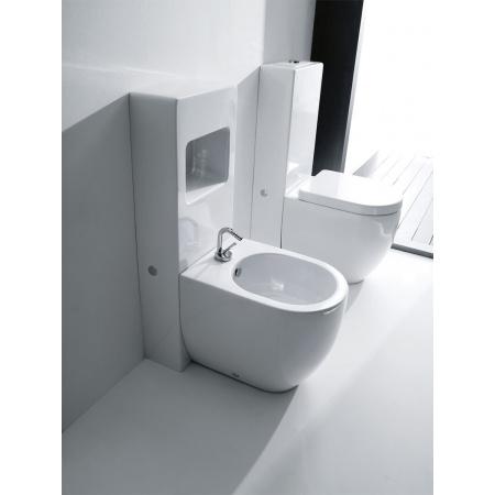 Kerasan Flo miska WC + spłuczka stojąca, biały 3116+2481