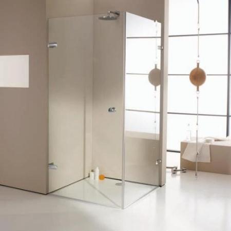 Huppe Enjoy Pure Drzwi skrzydłowe ze ścianką boczną, wykonanie na wymiar - Mocowanie lewe Szkło przezroczyste 4R0380.092.321