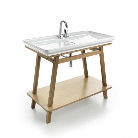 Art Ceram Mobili Furniture Trapezio Szafka pod umywalkę 97x53 cm stojąca, dębowa ACM011