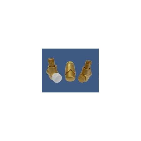 Schlosser Exclusive zestaw łazienkowy GZ ½ x złączka 15x1 Stal kątowy złoto mat 601700161