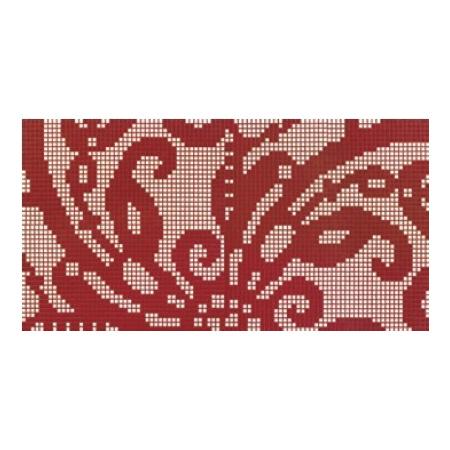 BISAZZA Embroidery Red mozaika szklana czerwona/różowa (BIMSZERE)