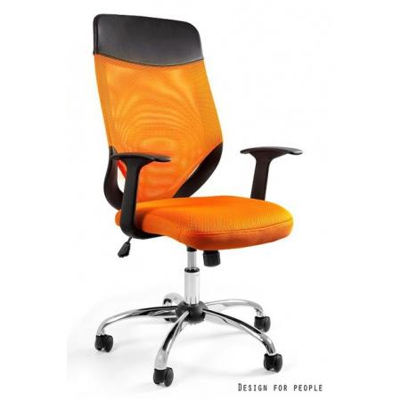 Unique Mobi Plus Fotel biurowy, pomarańczowy W-952-5