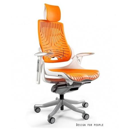 Unique Wau Fotel biurowy, elastomer, mango W-609W-12-TPE