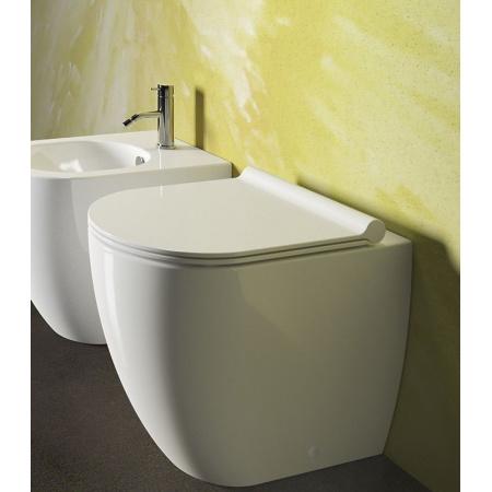 Catalano Sfera Zestaw Miska WC stojąca 52x35 cm i deska wolnoopadająca Slim, biała 1VPC5200+5SCSTP00