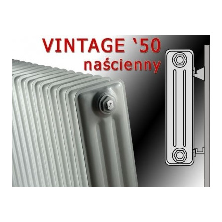 Vasco VINTAGE 50 - naścienny 478 x 1000 kolor: biały