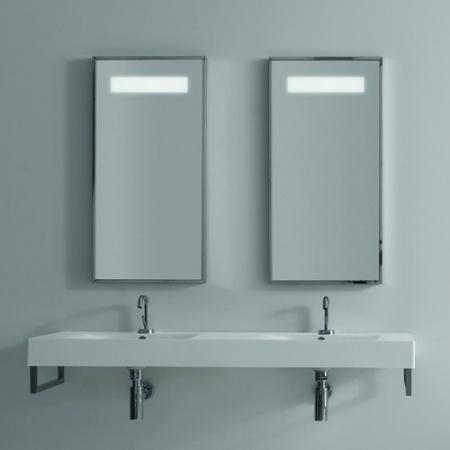 Kerasan Cento Lustro z podświetleniem 90x45 cm, chrom 9130