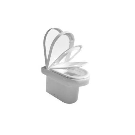 Hatria Daytime Miska WC stojąca z deską woloopadającą, biała Y0YW