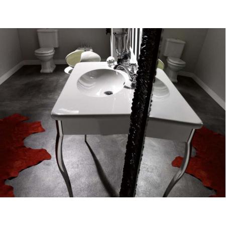 Kerasan Retro Umywalka z nogami 100x55 cm, biała/złota 1049K1