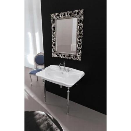 Art Ceram Barocca Lustro 76x96 cm, srebrna rama ACS00151