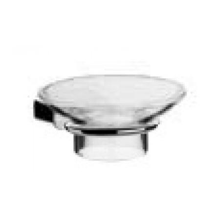 EMCO logo2 Mydelniczka ze szkła akrylowego z uchwytem 10,6x14,2x4,6 cm, chrom 303000101