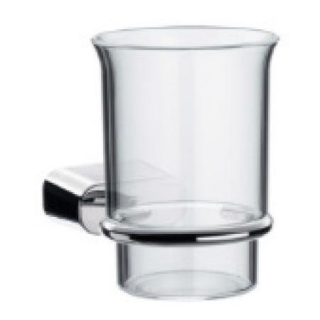 EMCO logo2 Kubek szklany z uchwytem 7x12,5x9,5 cm, chrom 302000102