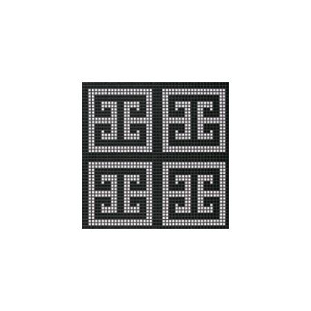 BISAZZA Key White mozaika szklana czarna (BIMSZKW)
