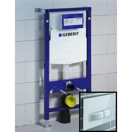 Geberit Zestaw Duofix Stelaż podtynkowy do ścian gipsowych UP320 + Sigma 50 Przycisk do spłuczki, 111.320.00.5 + 115.788.11.5