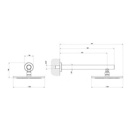 Gessi Minimali Deszczownica 21,6 cm szczotkowany nikiel 13348.142 / 13348142