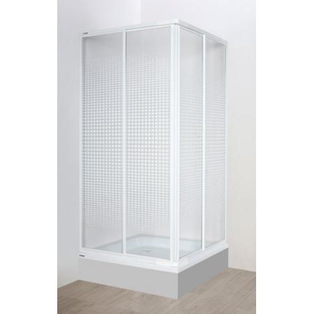 Sanplast EkoPlus KN-II Kabina prysznicowa narożna - 80/80/175 biały Strukturalne 600-130-0420-10-370
