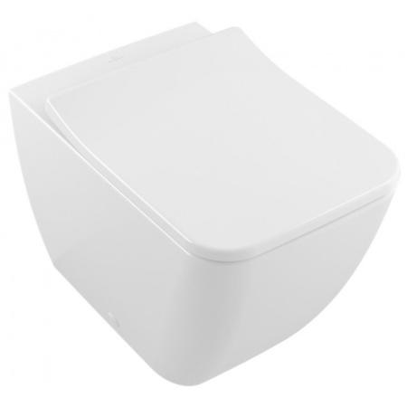 Villeroy & Boch Venticello Toaleta WC stojąca 37,5x56 cm bez lejowa DirectFlush bez kołnierza wewnętrznego, biała Weiss Alpin 4613R001