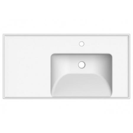 Scarabeo ML Umywalka wisząca lub wpuszczana w blat 92x47x18 cm, biała 3009