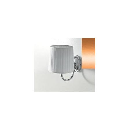 Art Ceram Victoria lampa ścienna z białym kloszem 18x26x24 cm, brązowa HEA035;72