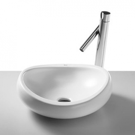 Roca Urbi 1 Umywalka nablatowa 45cm, bez otworu, z powłoką Maxi Clean, biała A327225000M