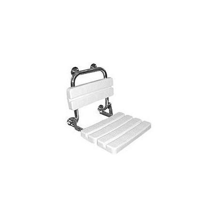 Koło siedzisko prysznicowe LEHNEN FUNKTION uchylne z oparciem (L1221100)