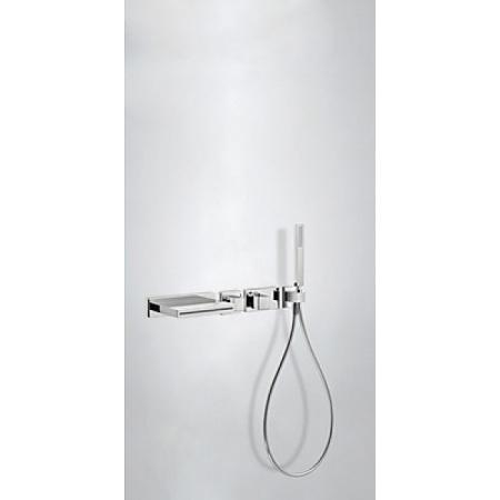 Tres Espacio Zestaw prysznicowy elektroniczny podtynkowy termostatyczną i z kaskadą chrom 207.192.01
