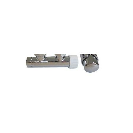 Schlosser Zestaw - zawór termostatyczny z głowicą termostatyczną Duo-plex 3/4 x M22x1,5 lewy chrom+Nyple (602100007)