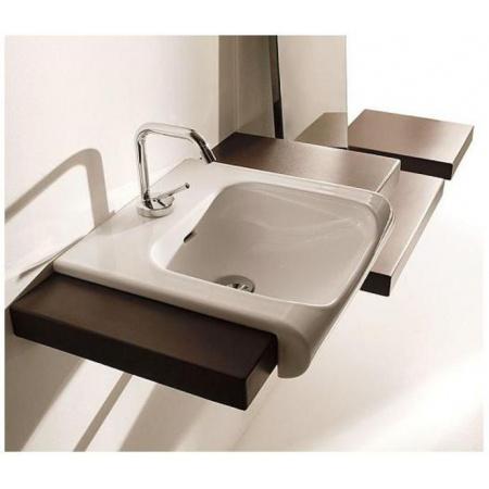 Kerasan Agua Libre Blat ceramiczny pod umywalkę biały matt 341630