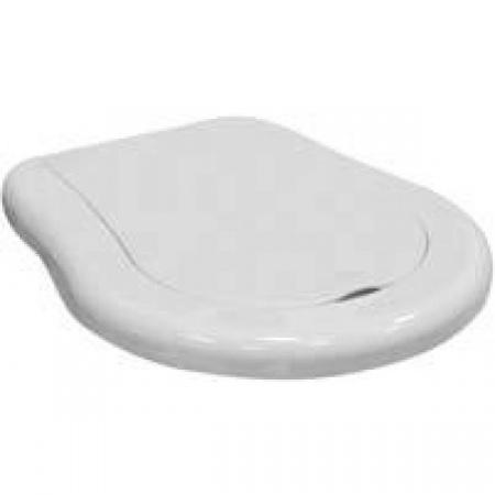 Kerasan Retro Deska sedesowa wolnoopadająca, biała, zawiasy brązowe 108401