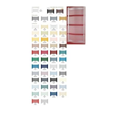 Zeta FASHION Grzejnik łazienkowy 1854x766, dolne zasilanie, rozstaw 685 kolory metalizados - FA18X7M
