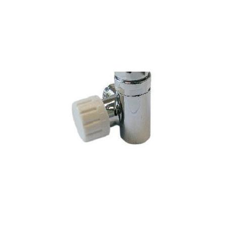 Schlosser Zawór termostatyczny do grzałki elektrycznej - prawy chrom ze złączką PEX (604900008)