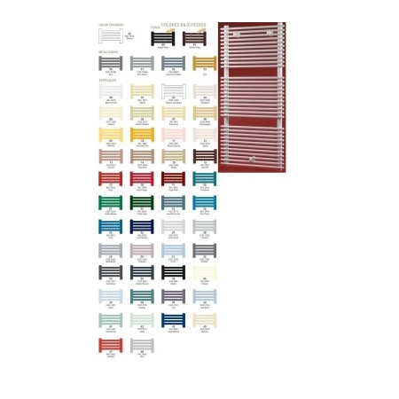 Zeta - BATIS Grzejnik łazienkowy 1477x1016, dolne zasilanie, rozstaw 935 kolory standard - BA14X10S