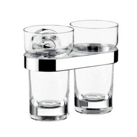 Emco Polo Kubek szklany z uchwytem 13,5x9,8x11,5 cm, chrom 07250010
