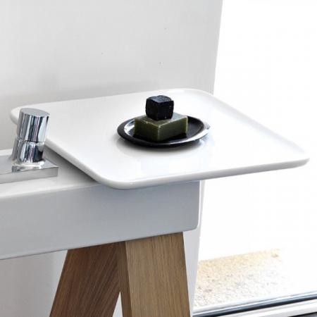 Art Ceram Ceramiczna półka do Cavalletto 35x35 cm, biała OSC00101;00
