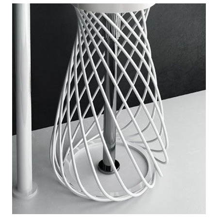 Hidra Wire Metalowa struktura pod umywalkę, biała W3